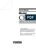Fostex Cr300 Service Manual