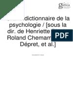Le Grand Dictionnaire de La Psychanalyse