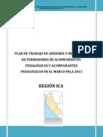Plan de Trabajo de Asesoría y Monitoreo