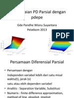 Penyelesaian PD Parsial Dengan Pdepe