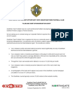 Grantham Town FC Corporate Partnership Opportunity