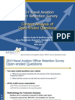 2014 Aviation Retention Survey - Free Response Analysis