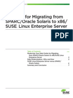 Case for Migrating Sparc Oracle Solaris to x86sles