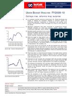 Budget Analysis - July 2009