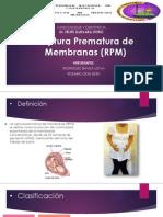 RPM + PARTO PRETERMINO