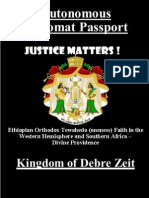 Official Diplomat Passport - Luel Ras Mesfin