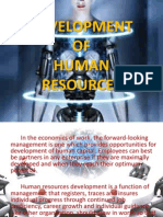 Development of Human Resources
