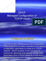 DHCP Managed Configuration of TCP/IP Hosts