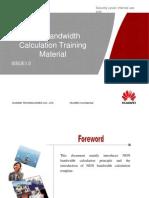 Core Network Design V100R007C00 NGN Bandwidth Calculation Training Material