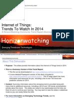 Internet of things 2014