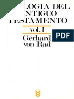 Gerhard Von Rad Teologia Del Antiguo Testamento Vol I