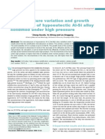 Microstructure Variation and Growth