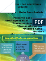 LES OPERATIONS D'INTREVENTION URBAINE as