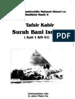 Tafsir Surah Bani Israil
