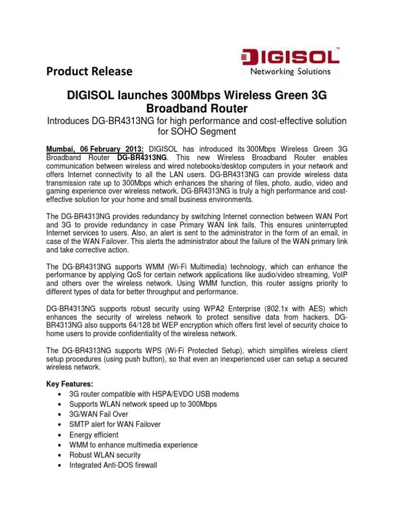 DG-BR4313NG_06022013 | Wireless Lan | Computer Network