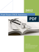Past Years OSCE Answers- 2012