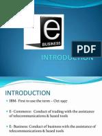 E Business Intro