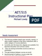 aet 515 instructional plan