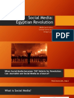 Final Presentation - Social Media in Egypt Revolution