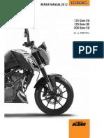 KTM DUKE 125 & 200 2012 Workshop Repair Manual