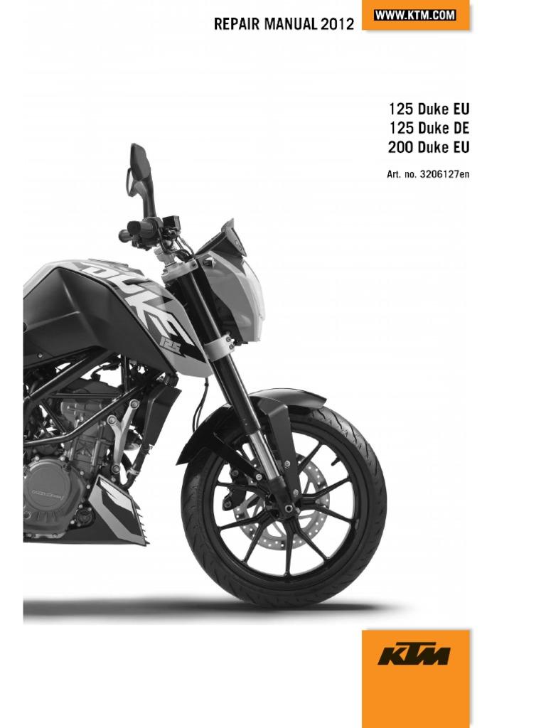 Ktm duke 125 200 2012 workshop repair manual asfbconference2016 Choice Image