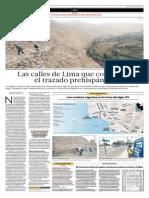 Las Calles de Lima Que Conservan El Trazado Prehispánico