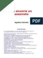 Christie, Agatha - Se Anuncia Un Asesinato