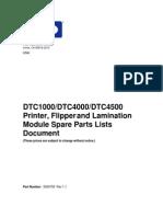 DTC1000_4000_4500_spare part list_S000758 rev1.1
