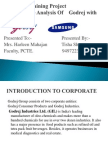 Competitive Analysis of Godrej With Samsung