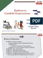 JDT Embraces Lambda Expressions - EclipseCon North America 2014