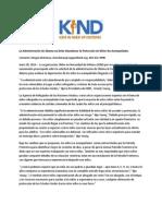 Declaracion de KIND ante la propuesta de Obama 7 1 14.pdf