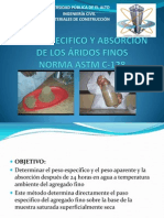 PESO ESPECIFICO Y ABSORCIÓN DEL AGREFADO FINO.pptx