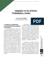 La Acción Pedagógica en Las Prisiones
