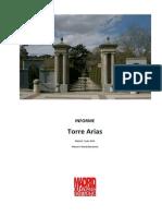 Informe sobre la Quinta y el palacio de de Torre Arias