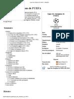 Ligue Des Champions de l'UEFA — Wikipédia