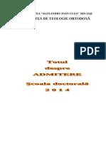Brosura Admitere Doctorat 2014