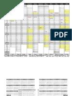 Calendário Escolar 2014-15 b