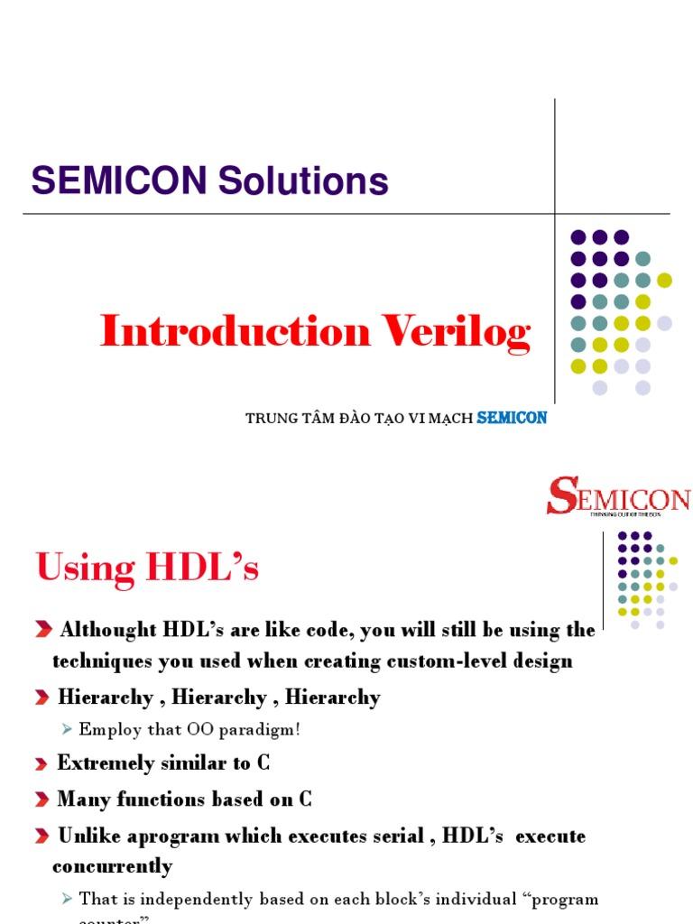 Introduction Verilog Hardware Description Language Parameter A Hierachical Priority Encoder Computer Programming
