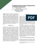 Quantitative Non-Functional Requirements Publication
