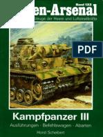 Waffen Arsenal - Band 122 - Kampfpanzer III - Ausführungen, Befehlswagen, Abarten