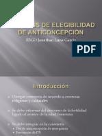 Criterios de Elegibilidad de Anticoncepción