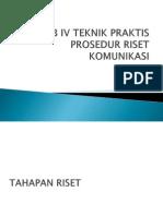 Bab IV Prosedur Riset Komunikasi