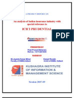 My Project Report on ICICI pru