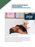 24-06-14 Redglobal Promueve Servicios de Salud de Oaxaca Cuidados Durante El Embarazo