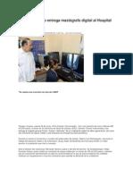 26-06-13 oaxacadiaadia Germán Tenorio entrega mastógrafo digital al Hospital Civil
