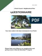 Neighbourhood Plan - Questionnaire