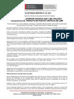 MINISTRO DEL INTERIOR ANUNCIA QUE 3 MIL POLICÍAS ORDENARÁN EL TRÁNSITO EN PUNTOS CRÍTICOS DE LIMA