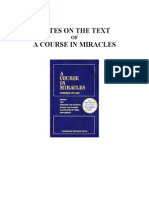 Stephen Wingate - Notes on the Text of a Course in Miracles