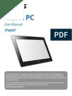 ASUS TF600T Tablet Manual