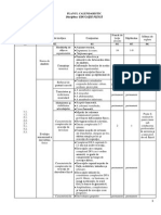 Plan Calendaristic Sem 1
